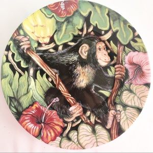 """Fitz and Floyd Exotic Jungle Salad Plate 9.25"""""""
